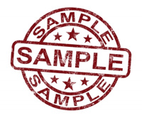 Image of SAMPLE stamp